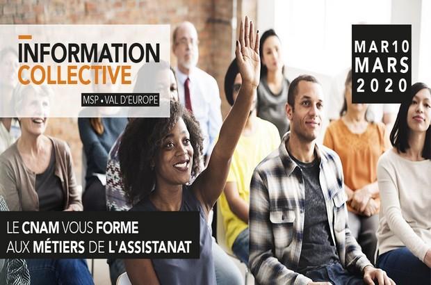Le CNAM vous forme aux métiers de l'assistanat mardi 10 mars 2020