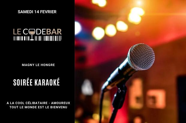 Magny : Soirée karaoké au Code Bar le 14 février avec ou sans Valentin.e !