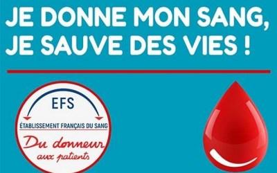 Saint Germain sur Morin : Don du sang le 13 mars au Gymnase Jacques Goddet.