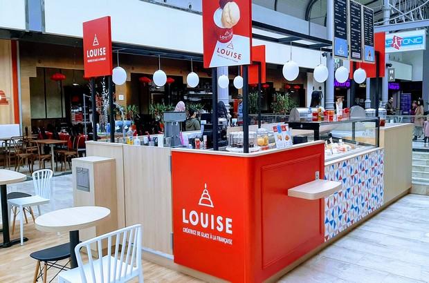 Le glacier artisanal «Louise» a ouvert un nouveau Kiosque aux terrasses du Val d'Europe