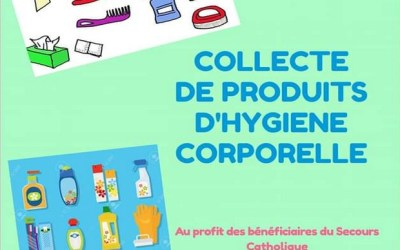 Montévrain : Collecte de produits d'hygiène au profit du Secours Catholique