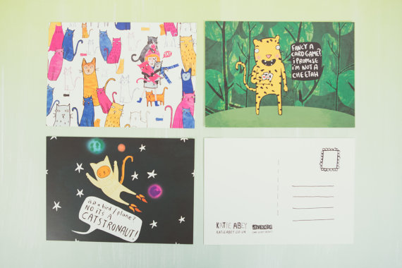 Cats - Illustrated Postcard Pack