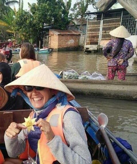 Alexandra durant son séjour au Vietnam