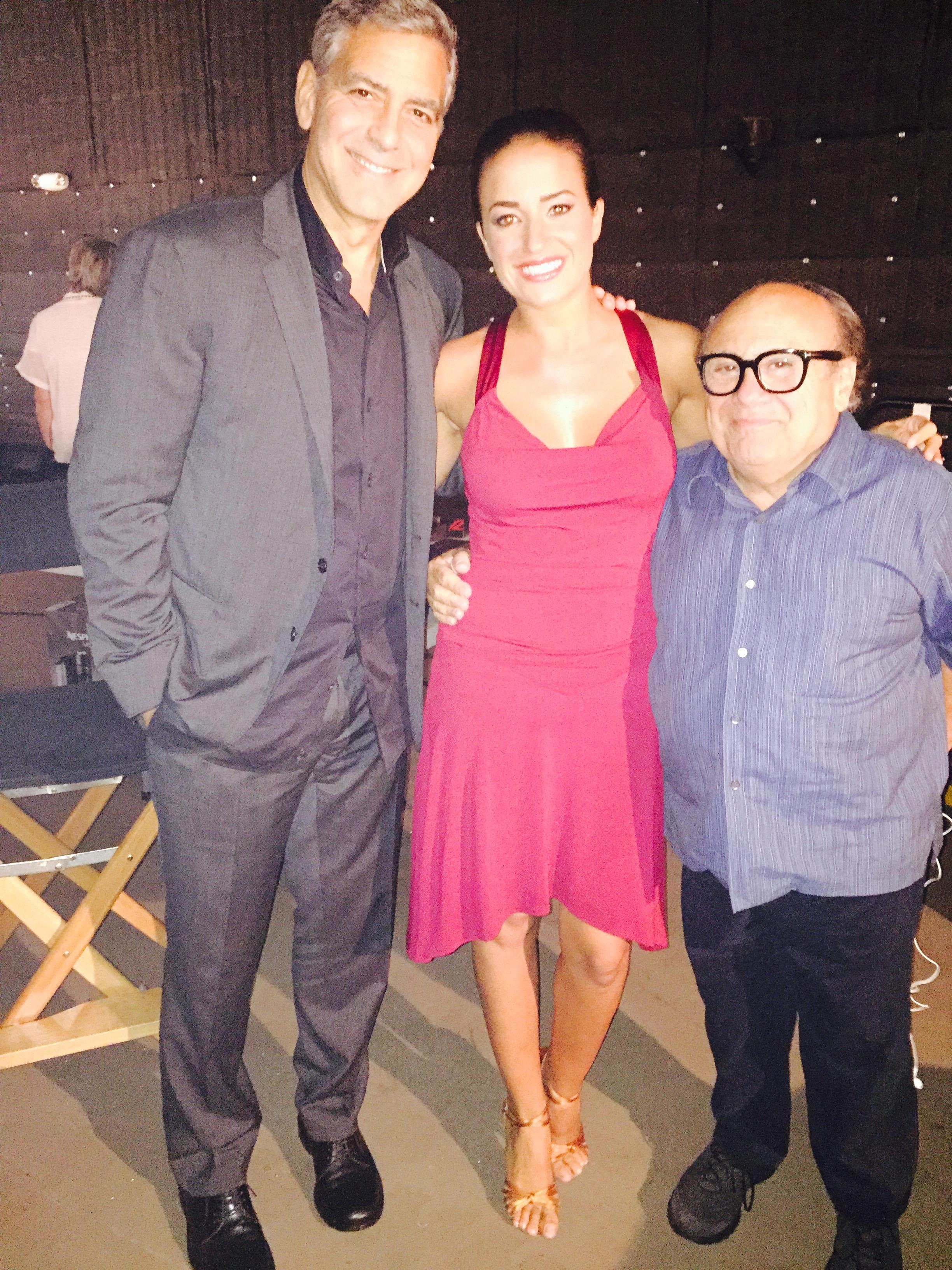 Clooney, Devito y Gemma