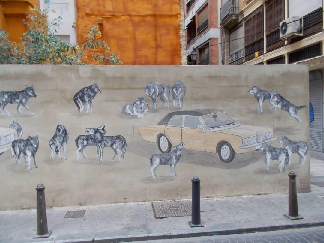 Calle de Carabasses y aledaños. Fuente: Valencia en graffitis.
