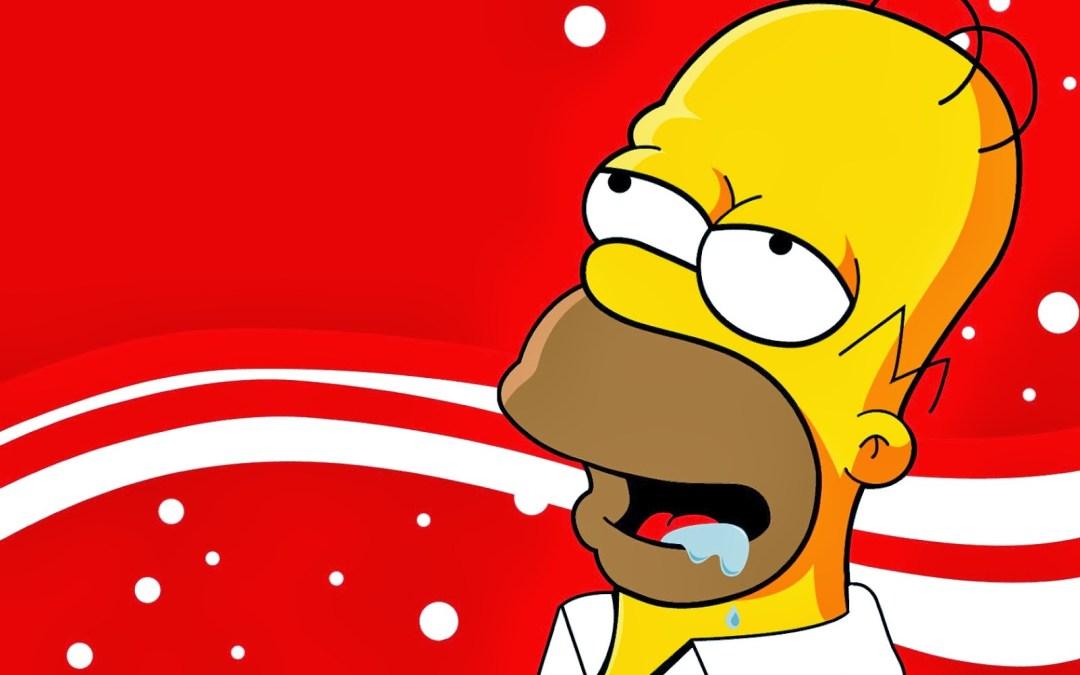 Homer pensando en una cerveza artesana valenciana.