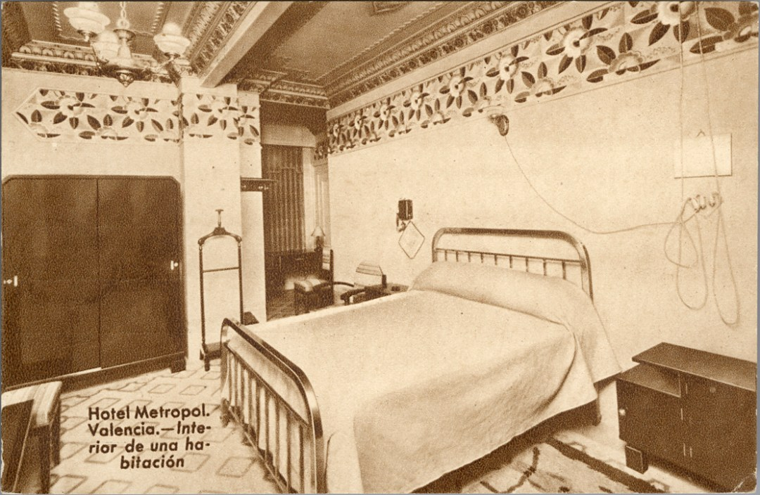 Una de las habitaciones del Hotel Metropol.
