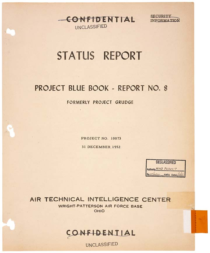 """Status Report Project Blue Book- Report No. 8"" Report Cover December 31, 1952 09475_2005_001"