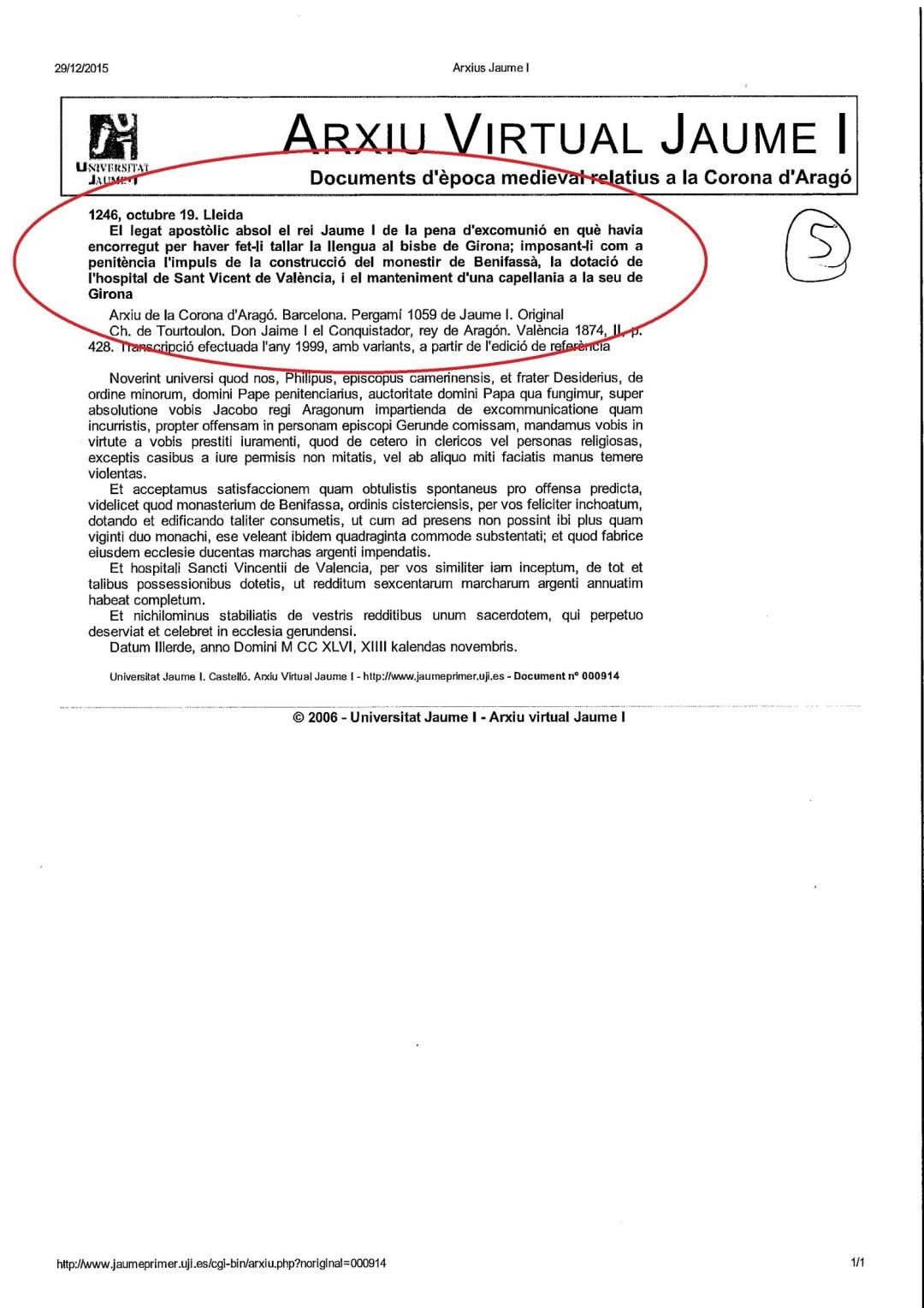 Fuente: Archivo en propiedad de la Universidad Jaume I de Castellón.