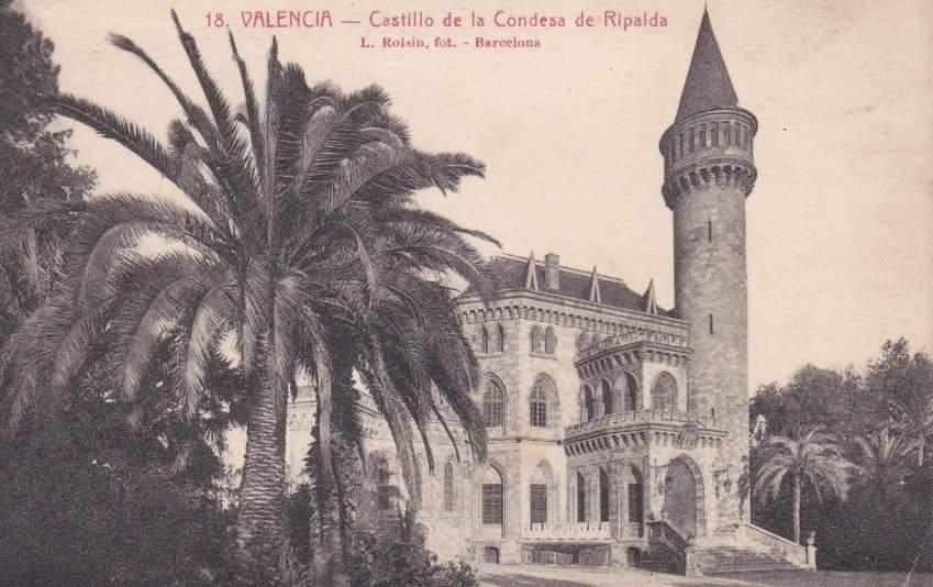 Imagen del bello Palacio Ripalda desaparecido.