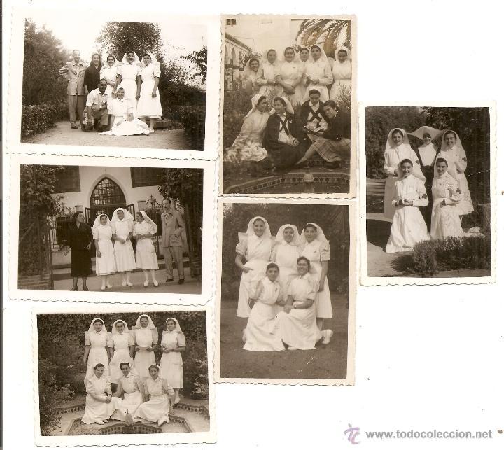 Valencia. Residencia Sanjurjo. 6 fotos de enfermeras. Cruz Roja. Fuente: todocolección.net