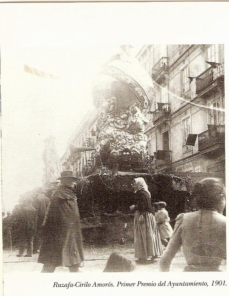 El primer premio oficial entregado por el Ayuntamiento de Valencia se realizó en el año 1901. Fuente: http://juanansoler.blogspot.com.es/