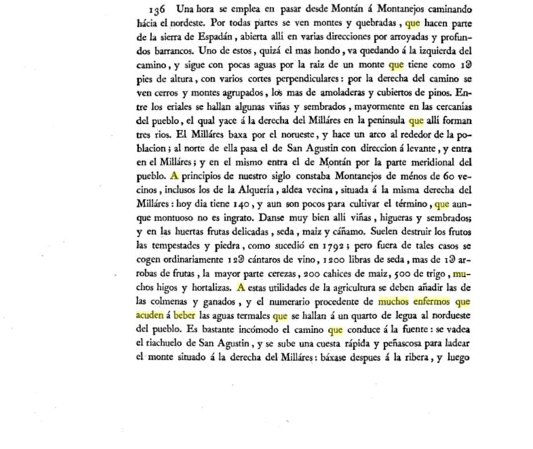 Observaciones sobre la Historia Natural, Geografía, Agricultura, población y frutos del reyno de Valencia. / Por don Antonio Joseé Cavanilles, Madrid, 1795-1797 (pág. 97)