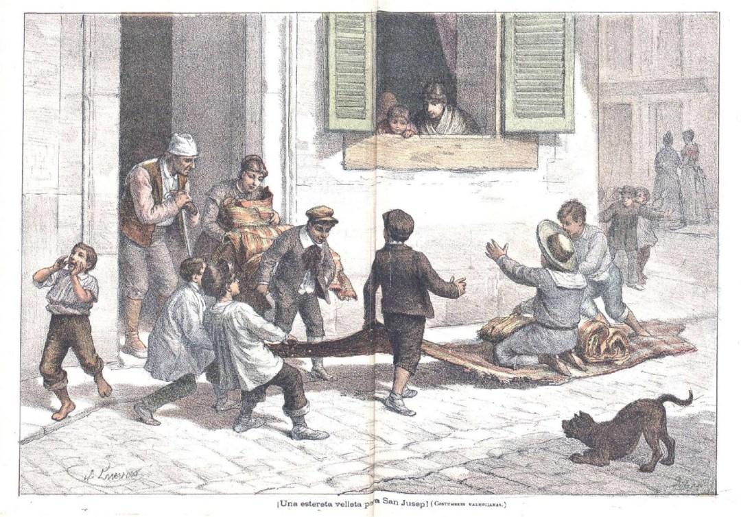 """Revista infantil """"El mundo de lo niños"""", en la seua edició del 10 d'abril de 1891. Fuente: vespradefesta.blogspot.com"""