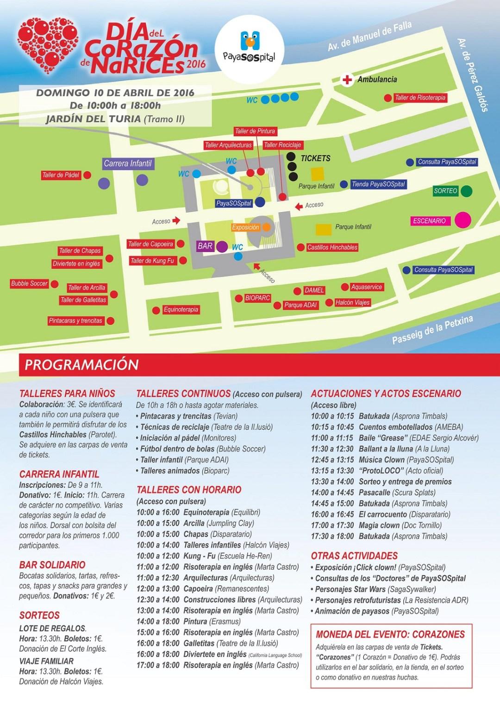Detalles del evento del 10 de abril de 2016.