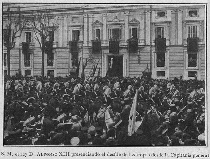 Alfonso XIII en Capitanía (10 de abril de 1905). Fuente: skyscrapercity.com