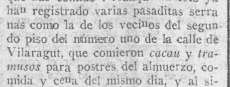 Ejemplo que aparece en La correspondencia de Valencia : diario de noticias : eco imparcial de la opinión y de la prensa Año XLVI Número 18943 - 1923 Marzo 06