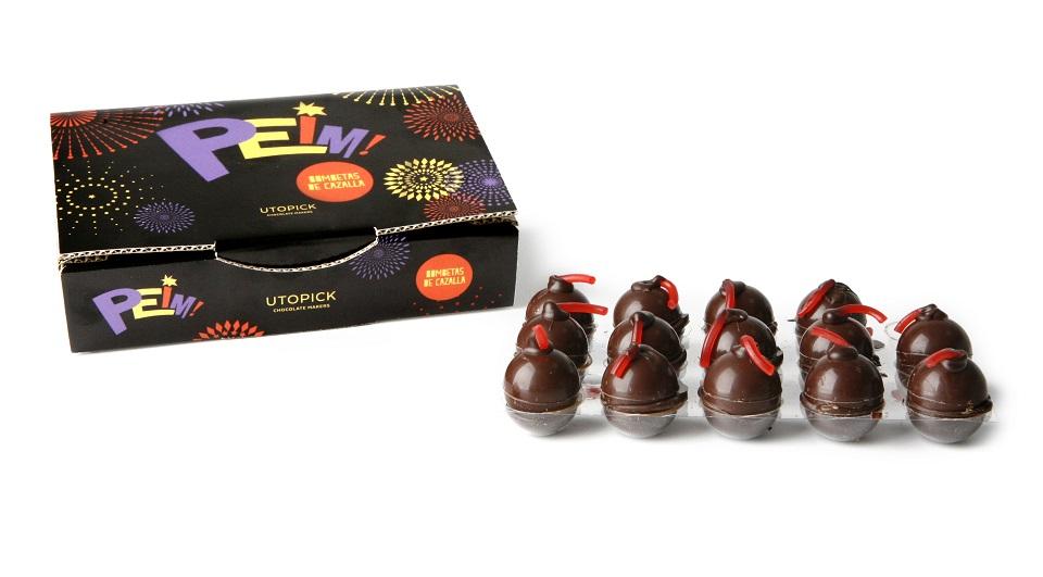 Estas Fallas ¡¡¡ PEIM !!! Bombetas de chocolate rellenas de Cazalla