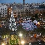 La plaza del Ayuntamiento de Valencia será peatonal el Día de Navidad y Año Nuevo