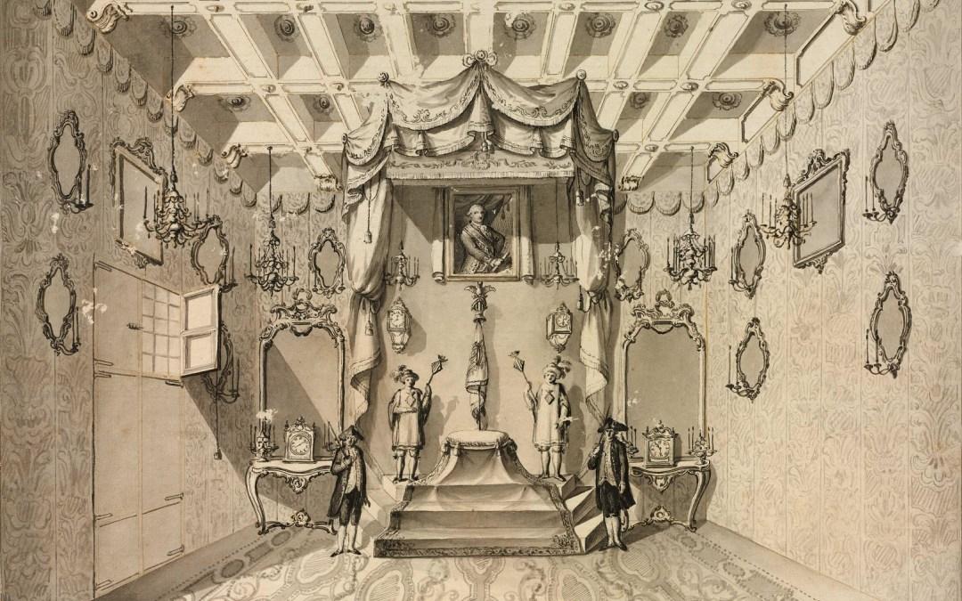 La desaparecida Sala del Real Pendón de la desaparecida Casa de la Ciudad de Valencia