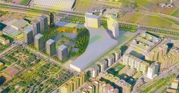 Figuración de la zona de Orriols donde ahora se ubica el Ciutat de València, sin el estadio