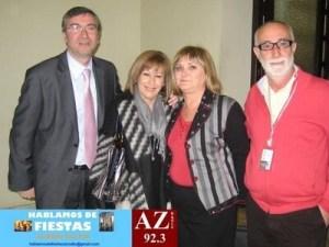 La concejala socialista Pilar Calabuig con el consejero del consejo rector de la JCF, Ricardo Olmos, a la derecha./eos