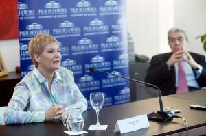 Isabel Rey en la rueda de prensa que ha ofrecido hoy/eva ripoll