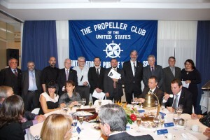 Un momento de la cena del Propeller Club/pc