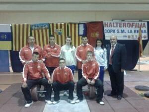 El equipo del Valencia Club de Halterofilia que participó en la Copa del Rey y de la Reina/vlch