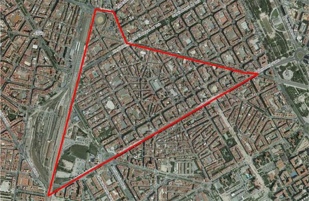 Mapa del barrio de Ruzafa