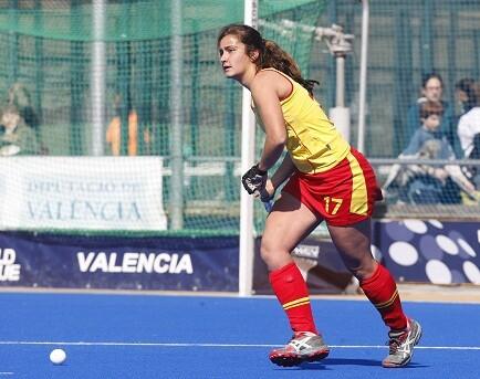 Una de las jugadoras de la selección española que mañana jugará para intentar la clasificación ante Bielorrusia/fhcv