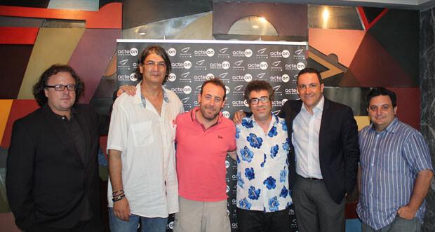 José Antonio Garzón, Jimmy Entraigües, Antonio Molero, Agustín Jiménez, Carlos García Pamblanco (director de marketing del Abba Acteón) y Manuel Furió. Foto: Javier Furió