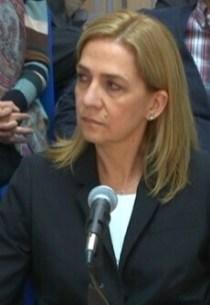 La infanta Cristina de Borbón.