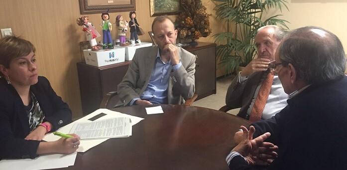 Marí en su reunión con la Federación de Centros de Enseñanza de Valencia.