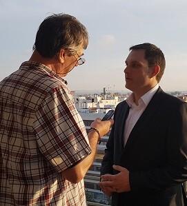 Carlos Alapont, durante la entrevista.