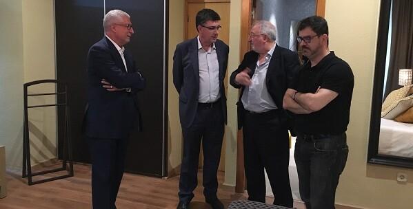 Enric Morera y Altiur visitaron las oficinas de Novaterra.