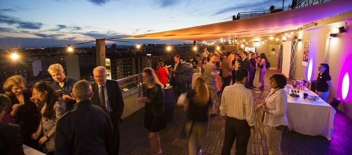Una imagen de la inauguración de la Terraza Urban Club de Expo Hotel.