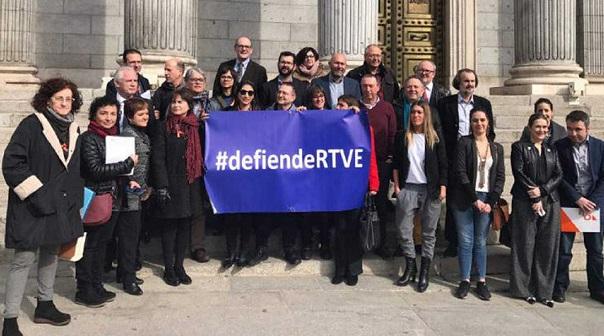 Trabajadores de RTVE.