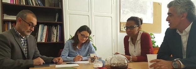 Mónica Oltra, vicepresidenta y consellera de Igualdad y Políticas Inclusivas durante la reunión.