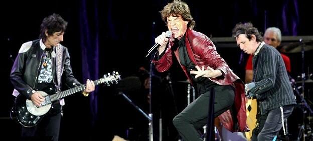 The Rolling Stones en uno de sus conciertos.
