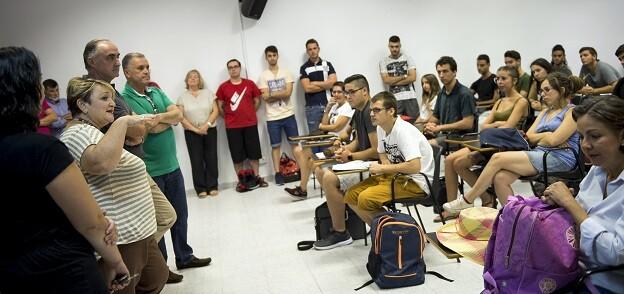 Mercedes Berenguer en la inauguración del curso en la Escuela de Capataces Agrícolas de Catarroja.