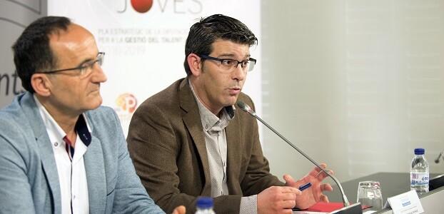 Jorge Rodríguez y el diputado Bartolomé Nofuentes.