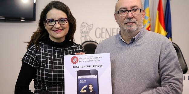 Mónica Oltra y Manuel Alcaraz.