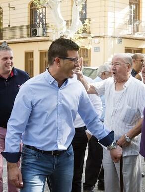 El presidente de la Diputació en una de sus visitas a Xàtiva.