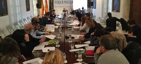 PIlar Moncho en la reunión celebrada en la Diputación.