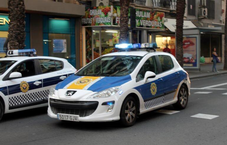La Policía Local en Alicante
