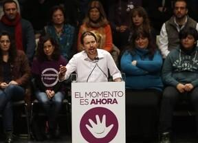 Pablo Iglesias en un momento de su acto en Valencia. (Foto-Agencias)