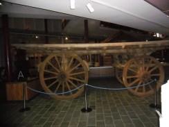 An original flat bed goods dray
