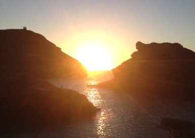 Sunset at Boscastle harbour