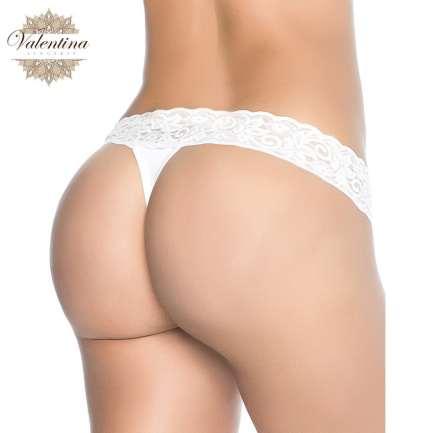 tanga sexy dentelle blanche valentina lingerie